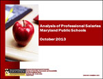 Analysis of Professional Salaries Maryland Public Schools October 2013