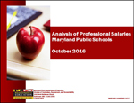 Analysis of Professional Salaries Maryland Public Schools October 2016