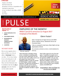 MSDE Pulse August 2017