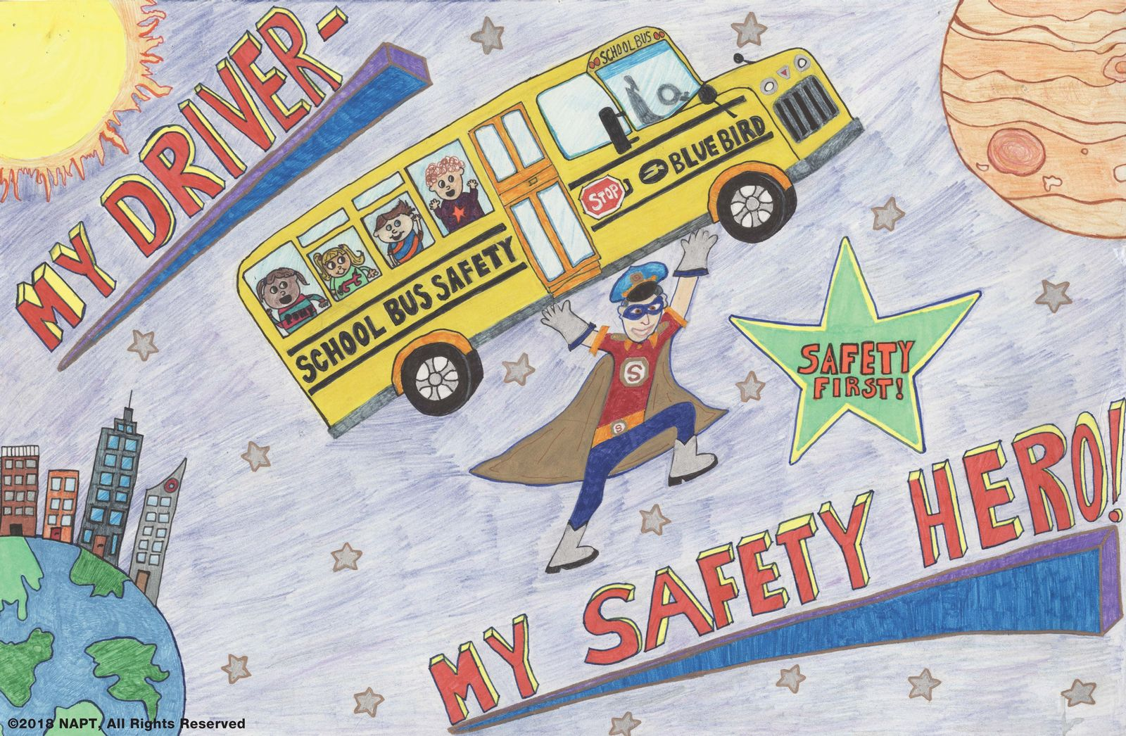 2018 National School Bus Safety Week Poster