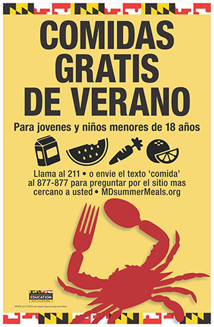 Free Summer Meals Program poster Spanish