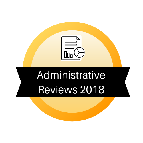 ​Administrative Review Summaries 2018