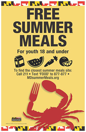 Summer Food Service Program Poster English